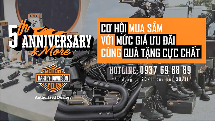 Ngày hội 5TH ANNIVERSARY & MORE mừng kỷ niệm 5 năm thành lập Harley-Davidson of Saigon