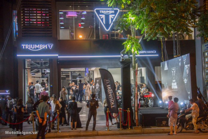 Chính thức khai trương Showroom Triumph Hanoi tại Long
