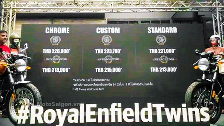 Giá xe Royal Enfield Interceptor và Continental GT 650 tại Thái Lan