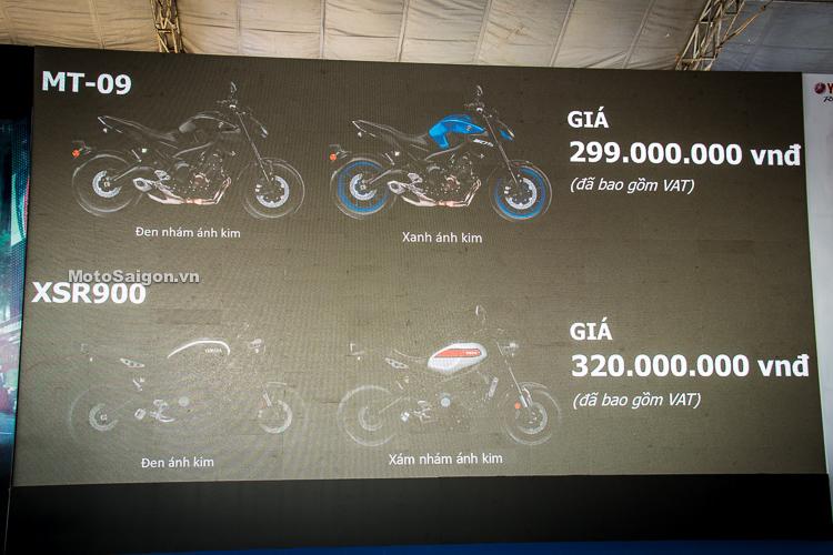Bảng giá xe moto pkl Yamaha MT-09 và XSR900