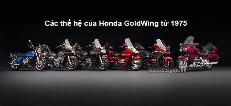6 thế hệ Honda GoldWing qua hơn 40 năm phát triển
