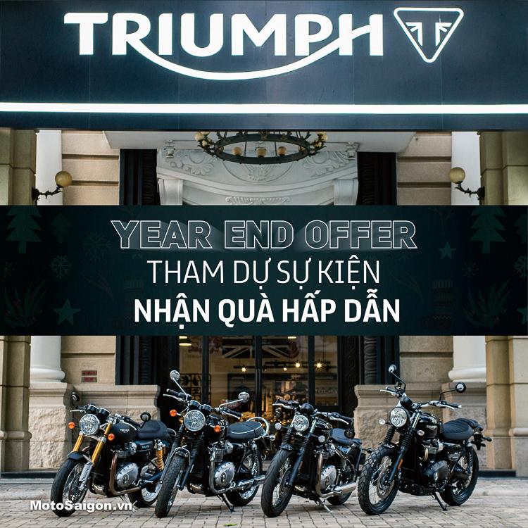 Year End Offer: Sự kiện siêu ưu đãi của Triumph 2018