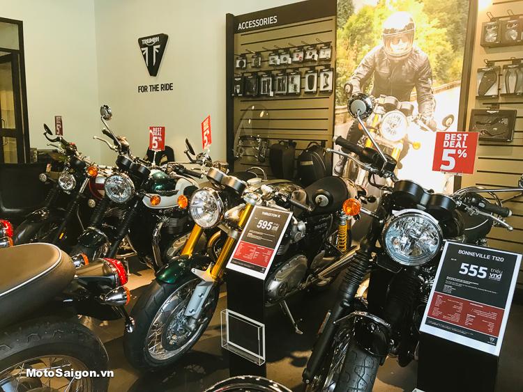 Triumph Việt Nam về hàng số lượng kèm giá ưu đãi mùa Lễ 2019