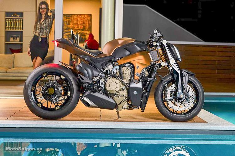 Siêu phẩm độ V4 Penta giá 100 ngàn Euro từ Ducati Panigale V4