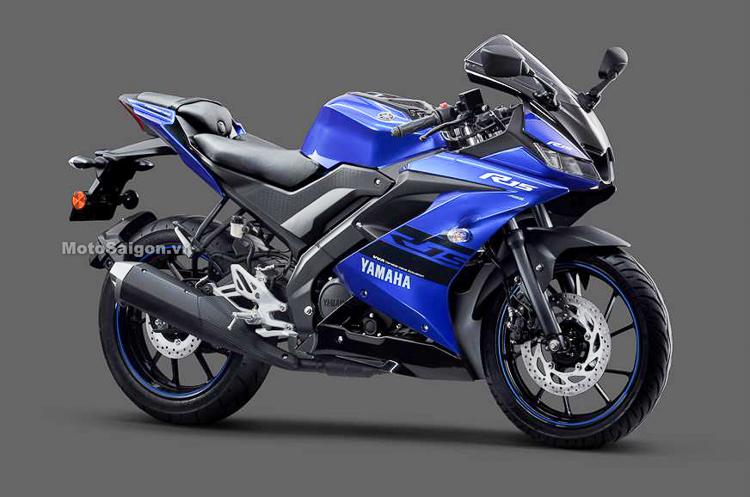 Yamaha R15 vs phiên bản màu xanh GP