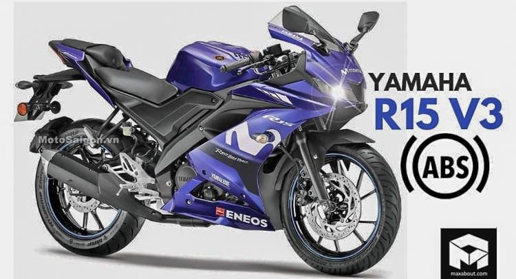 Yamaha R15 v3 2019 có thêm ABS tại thị trường Ấn Độ