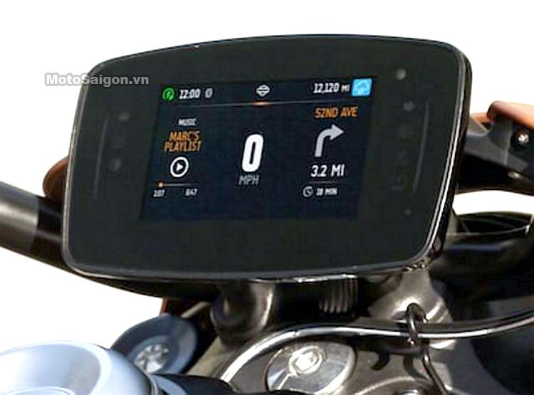 Đồng hồ màn hình cảm ứng của mô tô điện Harley-Davidson LiveWire odometer LCD.