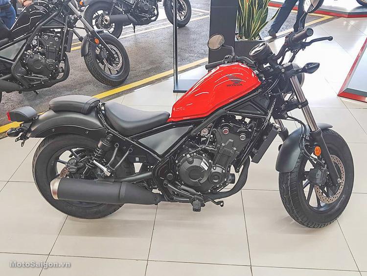 Honda Rebel 500 màu Đỏ phiên bản 2019