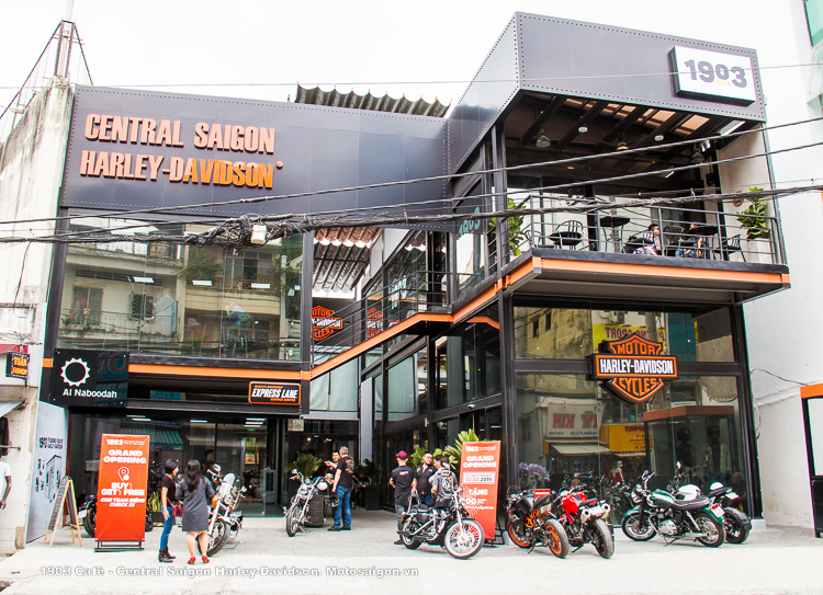 1903 Café chính thức khai trương tại Central Saigon Harley-Davidson