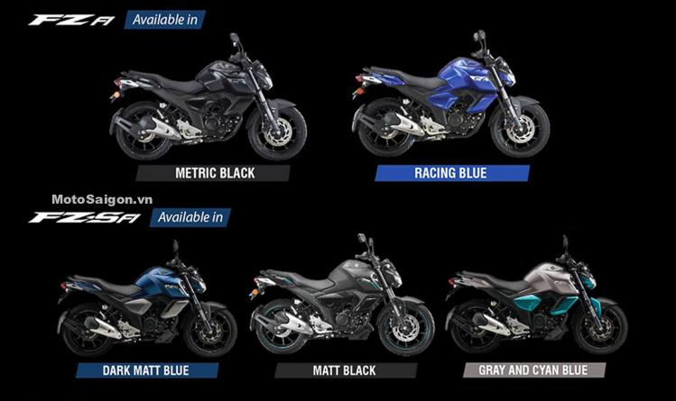 Các phiên bản màu của Yamaha FZ v3 & FZ-S v3 2019 kèm giá bán