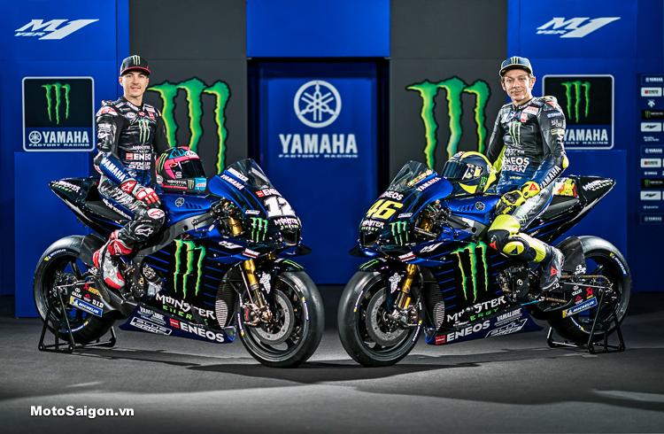 MotoGP: Yamaha M1 2019 Monster Energy của 2 tay đua VR46 và MV25