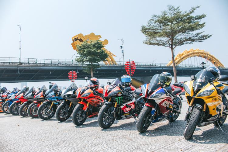 Ngắm dàn xe Yamaha R6 hội tụ tại thành phố Đà Nẵng