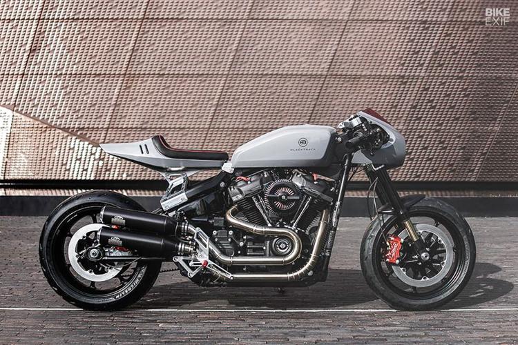 Harley-Davidson Fat Bob 114 độ tuyệt đẹp với phong cách Cafe Racer