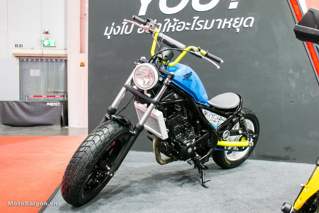 Phá cách với phiên bản độ đầy màu sắc Honda Rebel 300 Bobber
