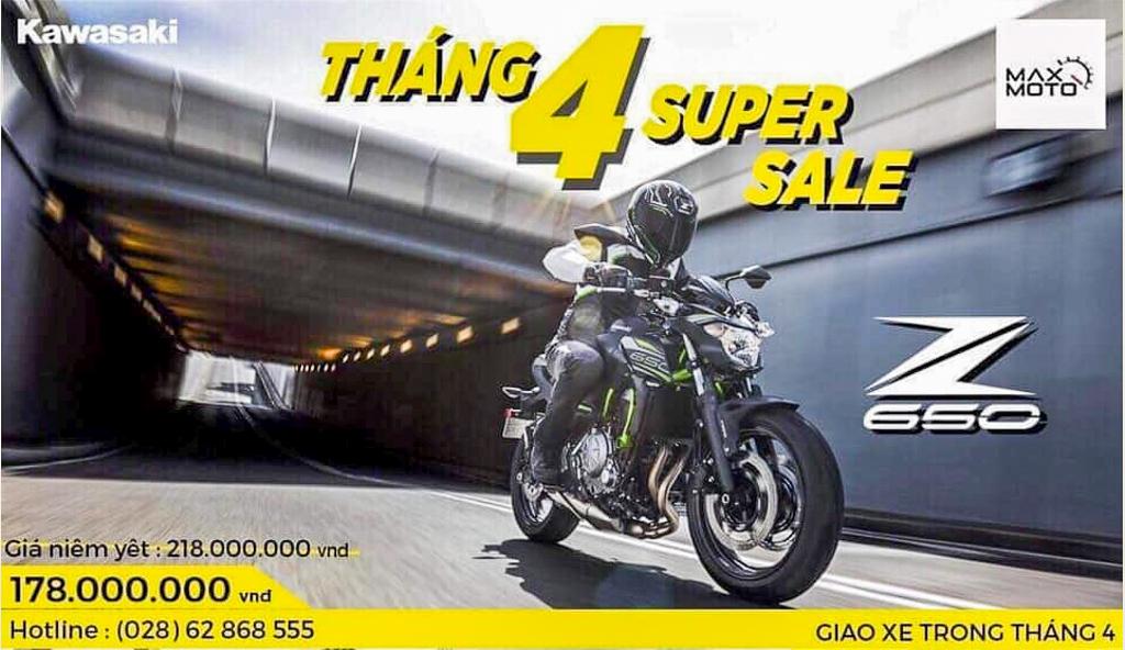 Kawasaki ưu đãi giá xe Ninja 650 và Z650 lên đến 40 triệu đồng