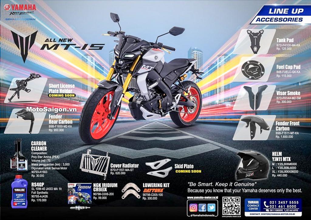 Đồ chơi xe chính hãng cho Yamaha MT-15 2019