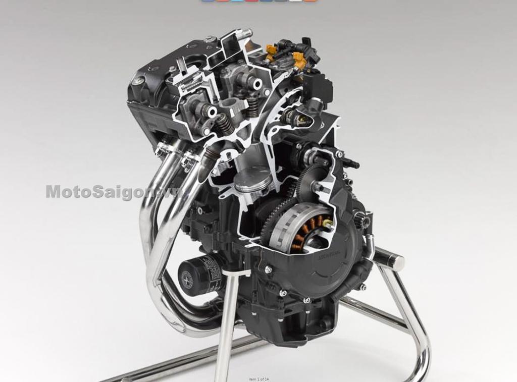 Chi tiết động cơ tăng 4% công suất trên CBR500R, CB500X, Rebel 500 của Honda