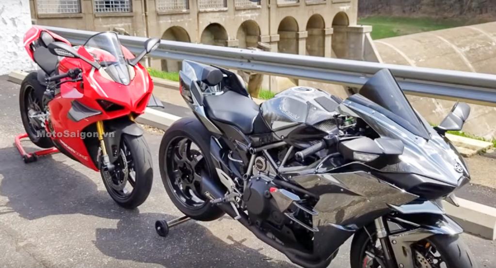 Ducati Panigale V4R vs Kawasaki Ninja H2 - Ai xứng đáng là vua?