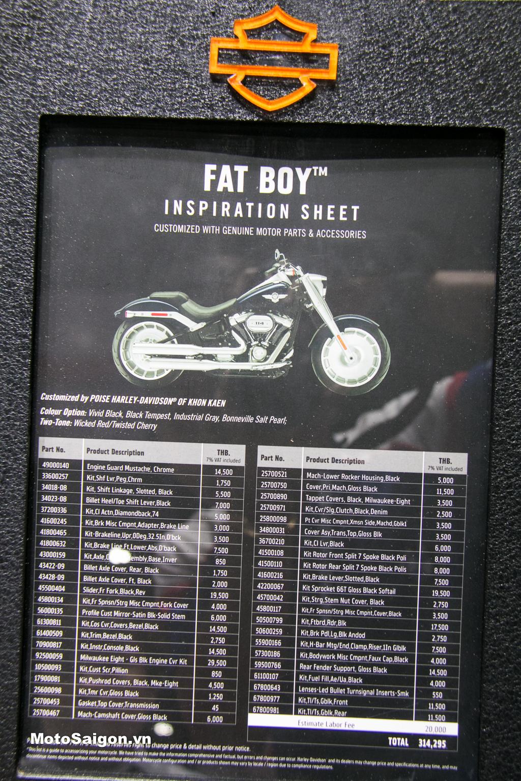 Dàn đồ chơi 230 triệu trên bản độ Harley-Davidson Fat Boy 114