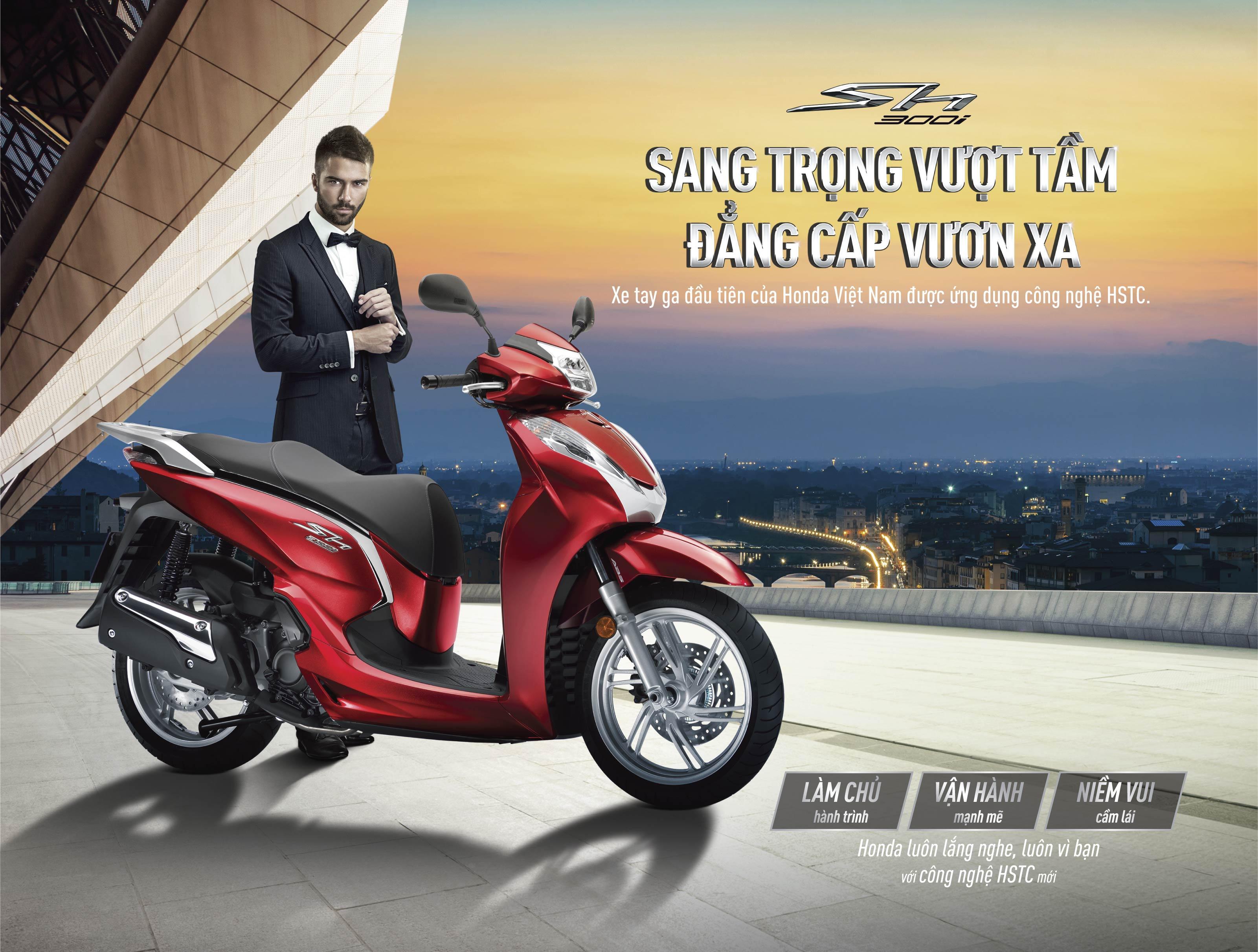 Honda SH300i mới 2019 được bổ sung hệ thống HSTC