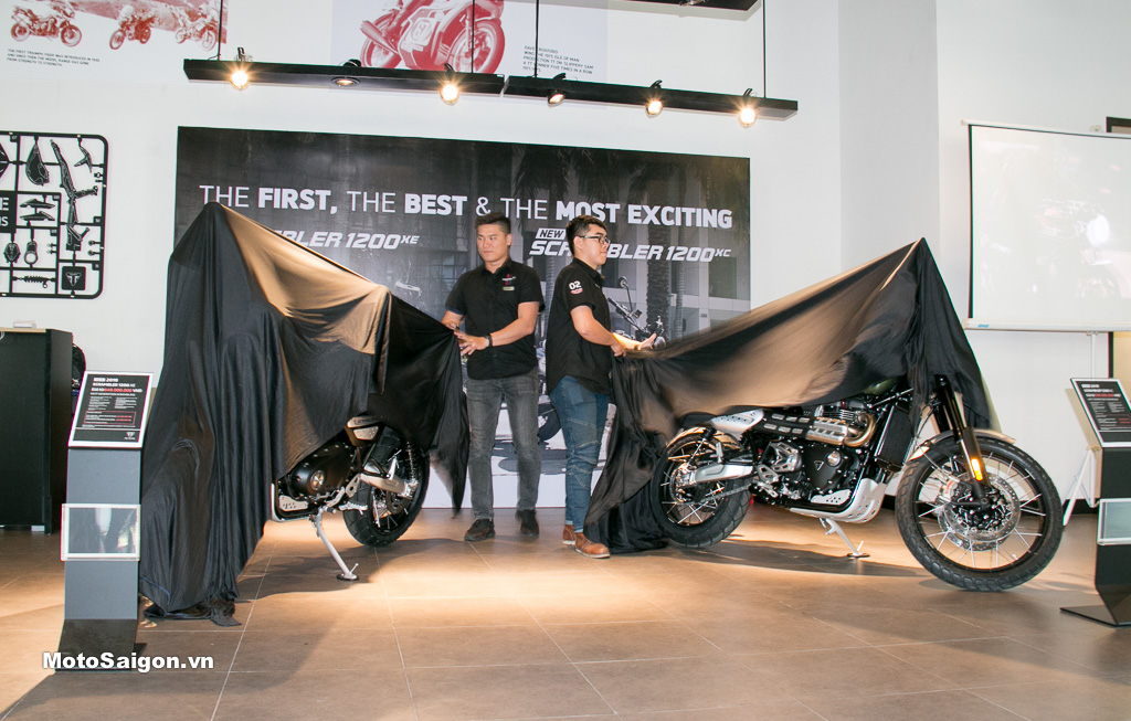 Triumph Việt Nam ra mắt và công bố giá xe Scrambler 1200, Speed Twin, Tiger 800