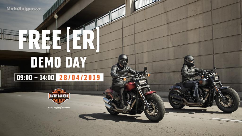 Sự kiện FREE[ER] DEMO DAY Lái thử xe Harley-Davidson kèm nhiều quà tặng