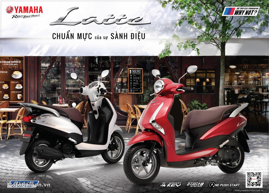 Giá xe Yamaha Latte hoàn toàn mới chính thức ra mắt tại Việt Nam