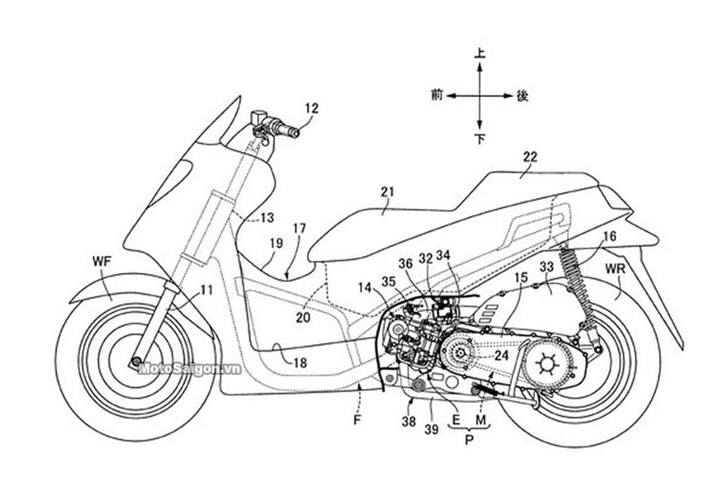 Bản vẽ kỹ thuật cấu tạo Honda PCX 2020 VTEC MotoSaigon.vn