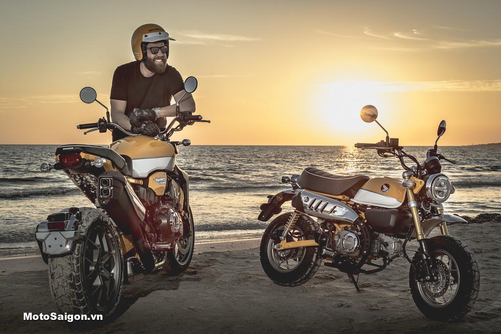 """Honda CB1000R Kong độ theo """"em út"""" Monkey 125"""