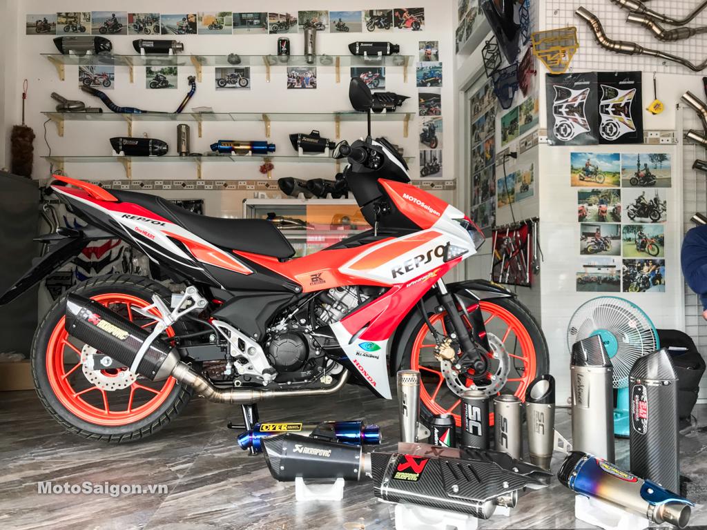 Nghe thử 11 mẫu pô HOT trên Honda Winner X tại Phượt Safety Sài Gòn