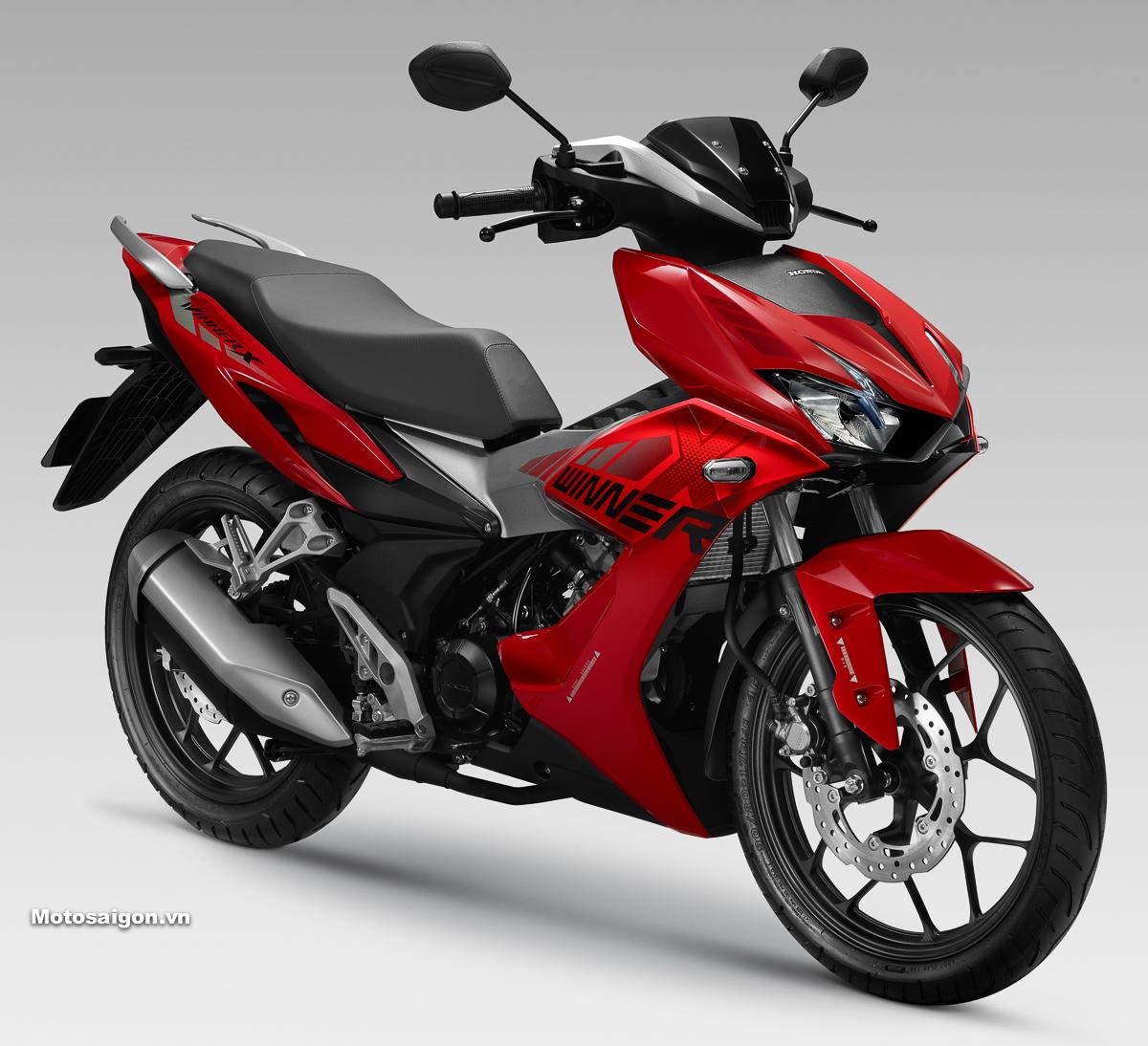 Giá xe Honda Winner X phiên bản thể thao màu Đỏ bạc Đen: 45.990.000đ