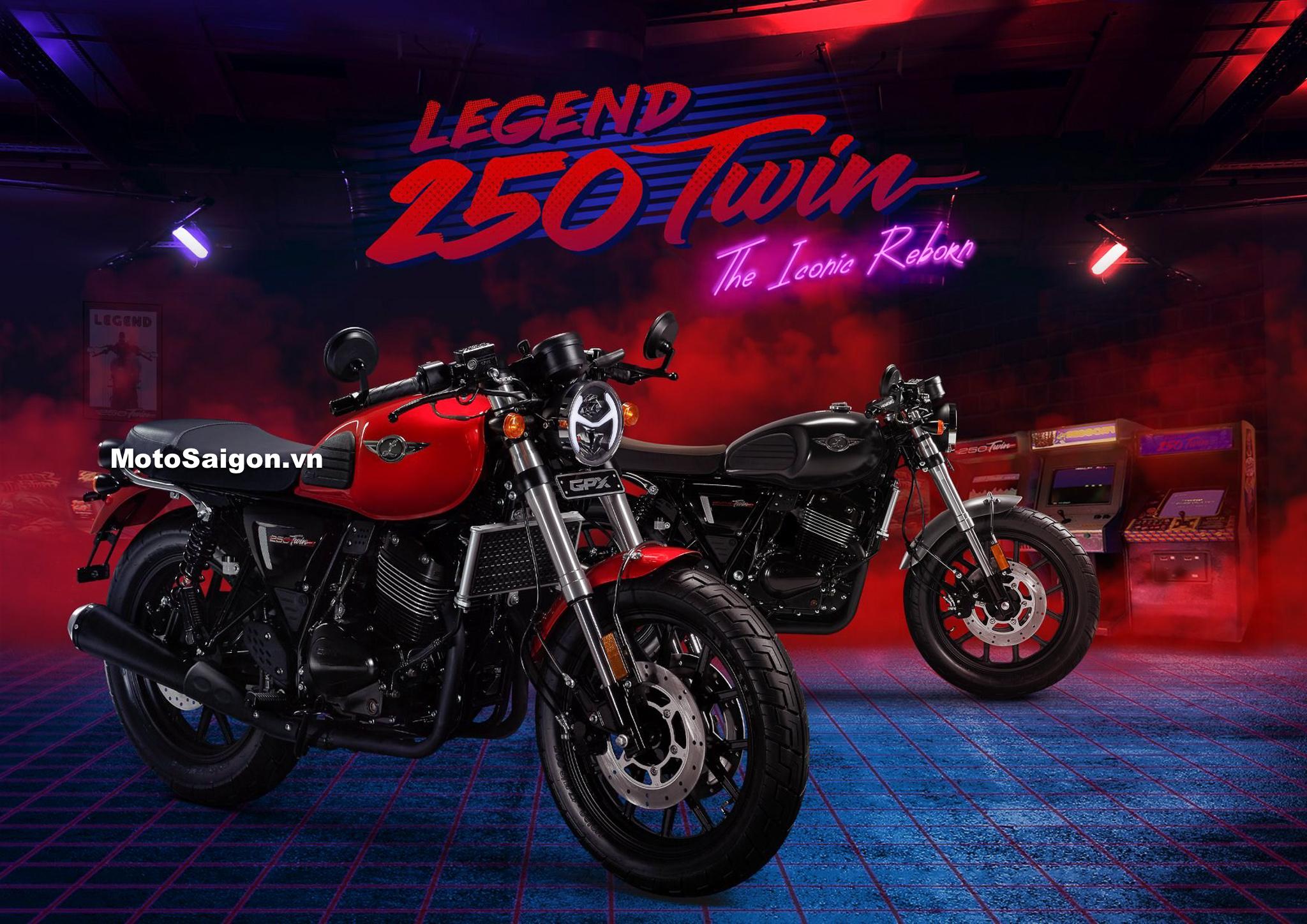 Giá bán GPX Legend 250 Twin động cơ 2 xilanh đã được công bố