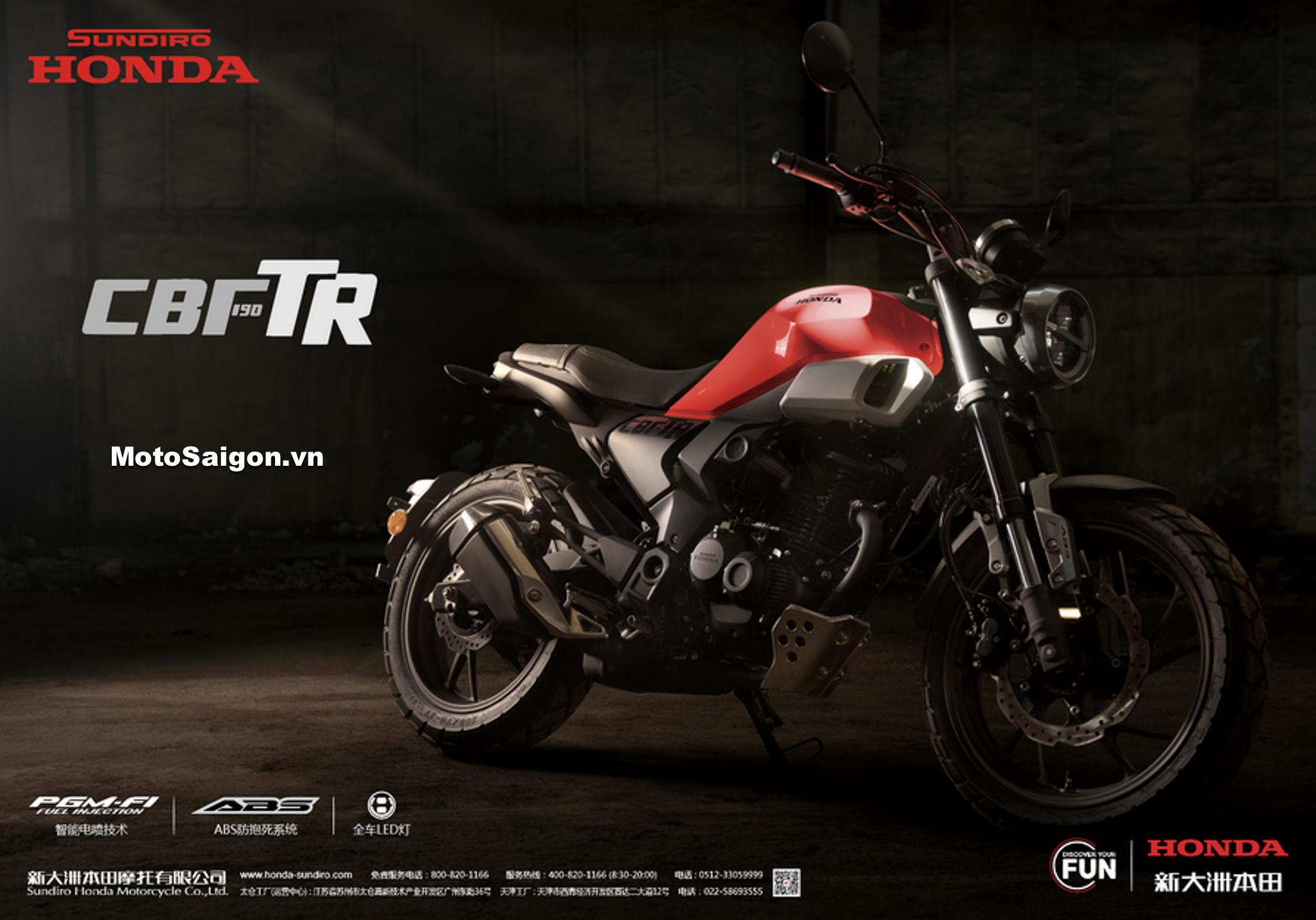 Honda CBF190 TR mẫu Retro giá rẻ có khiến XSR155 lo lắng?