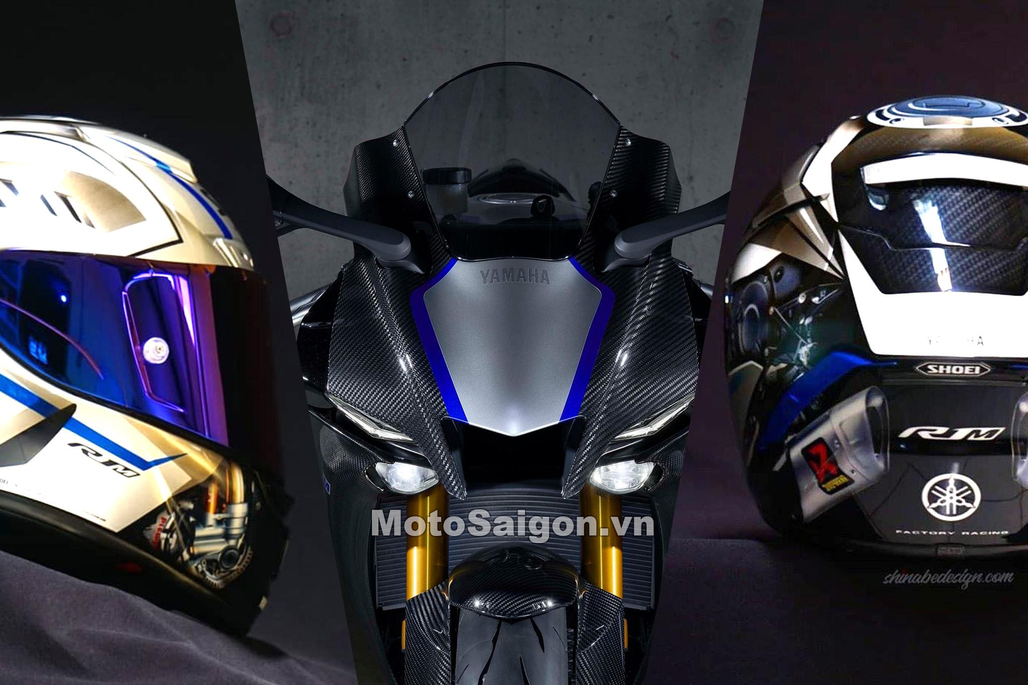 Shoei X14 tem đặc biệt dành cho Yamaha R1M giá bán cực khủng