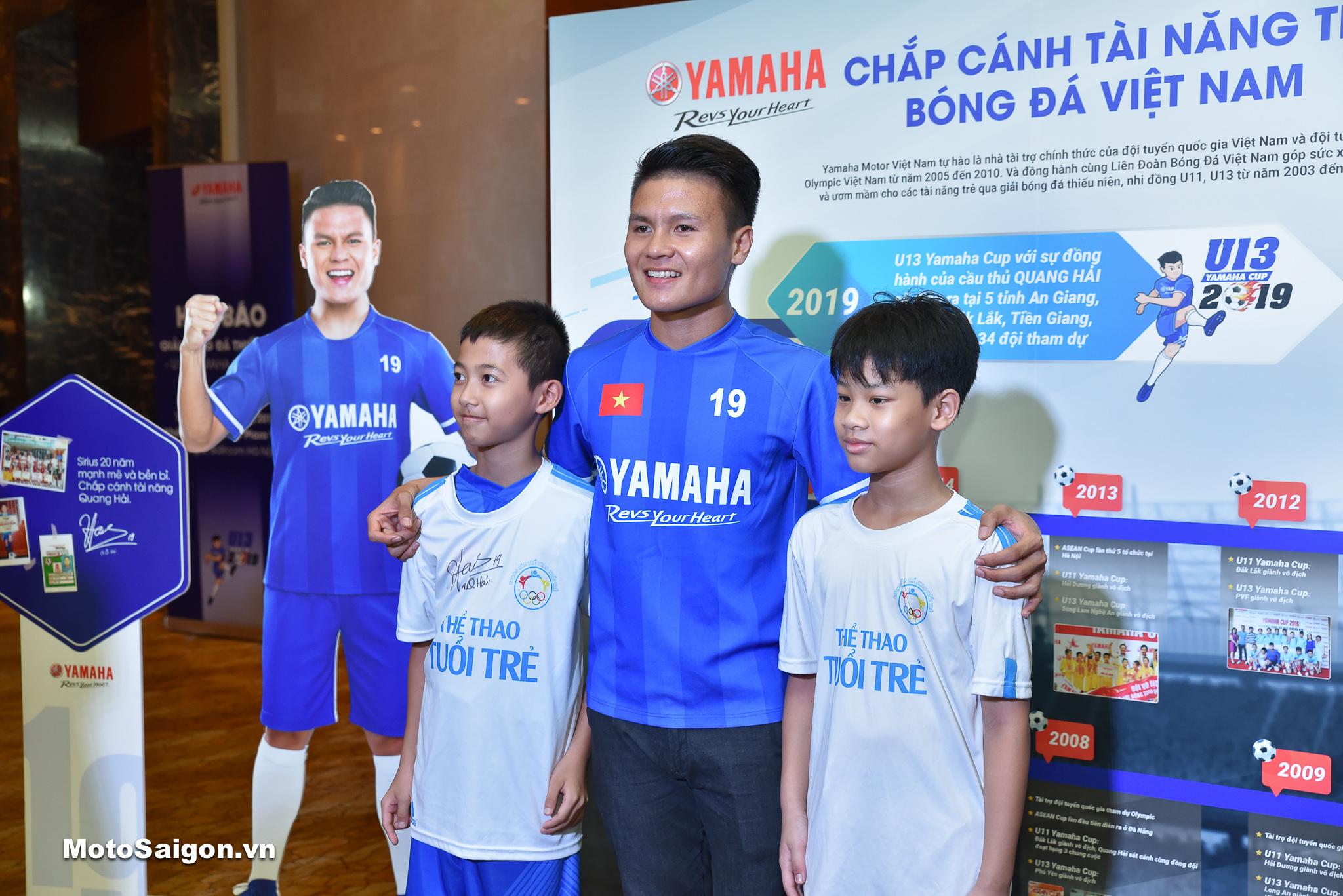 Cầu thủ Quang Hải – Đại sứ thương hiệu Yamaha Motor Việt Nam