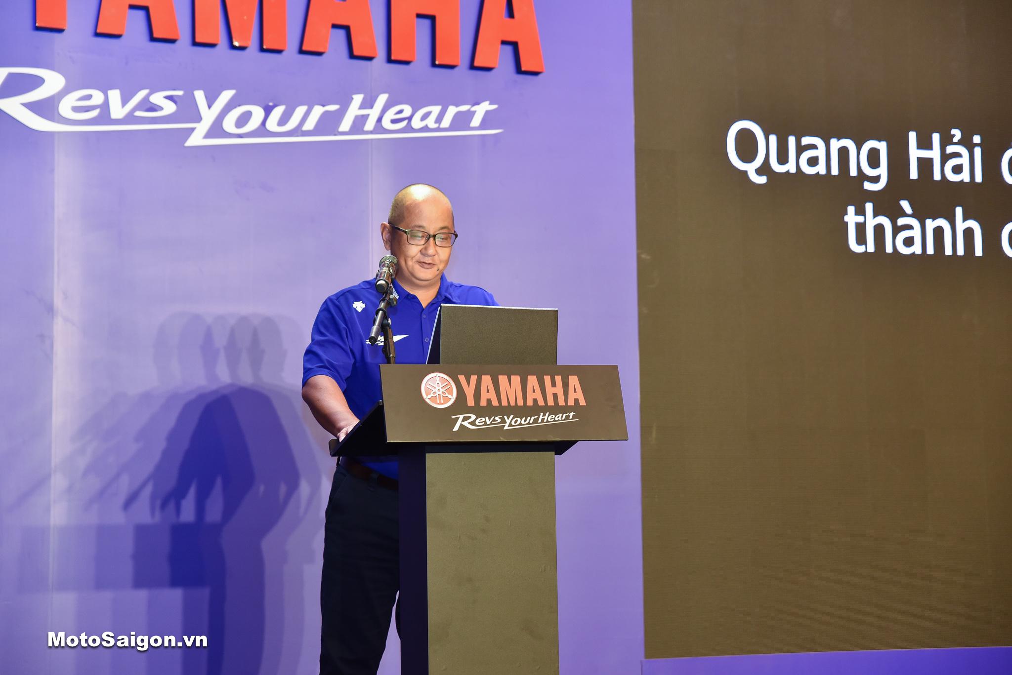 Ông Kawano Toshiya, Tổng giám đốc Yamaha Motor Việt Nam phát biểu tại sự kiện