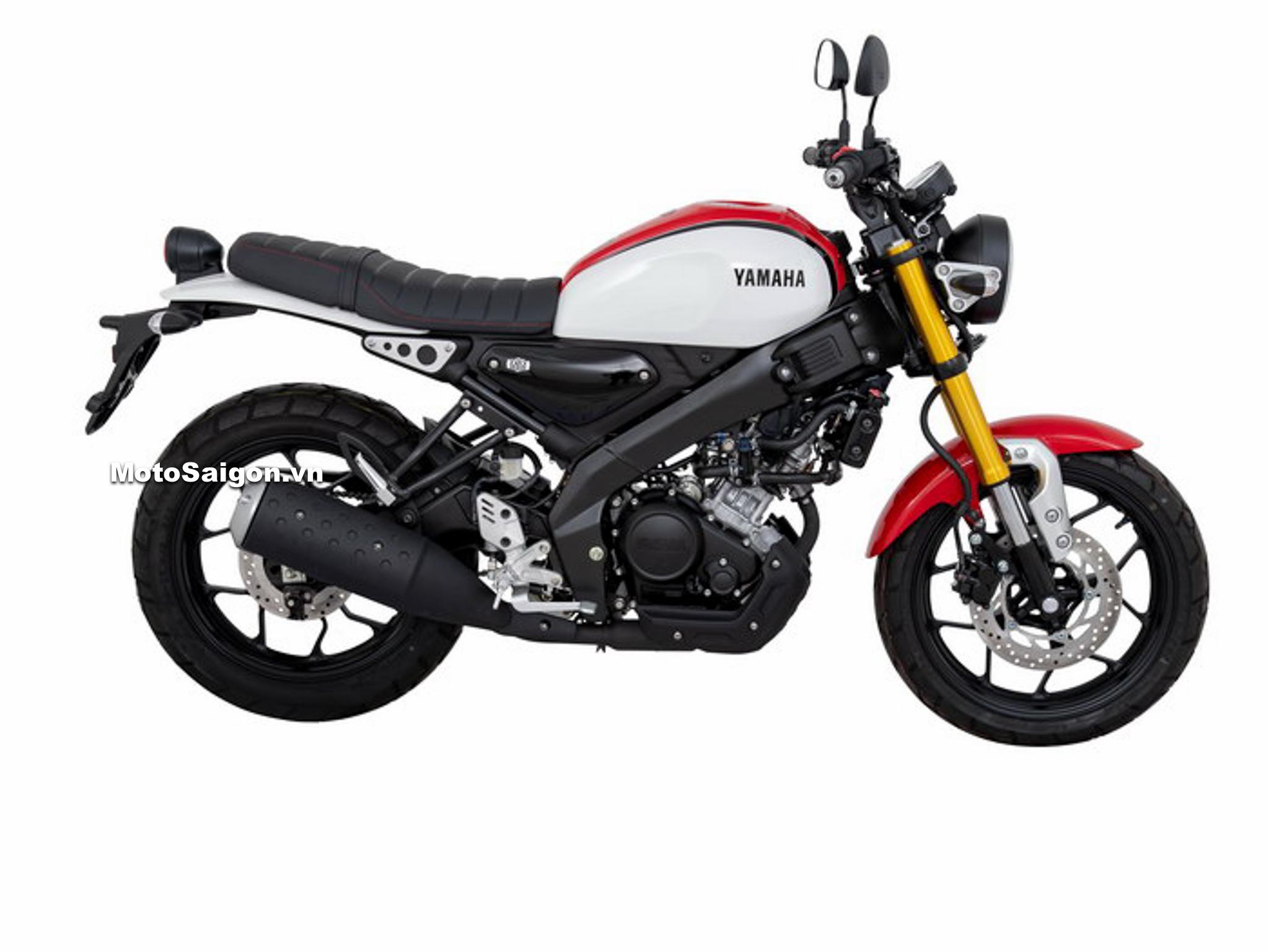 Yamaha XSR155 80s Sport Heritage màu Trắng-Đỏ White-Red
