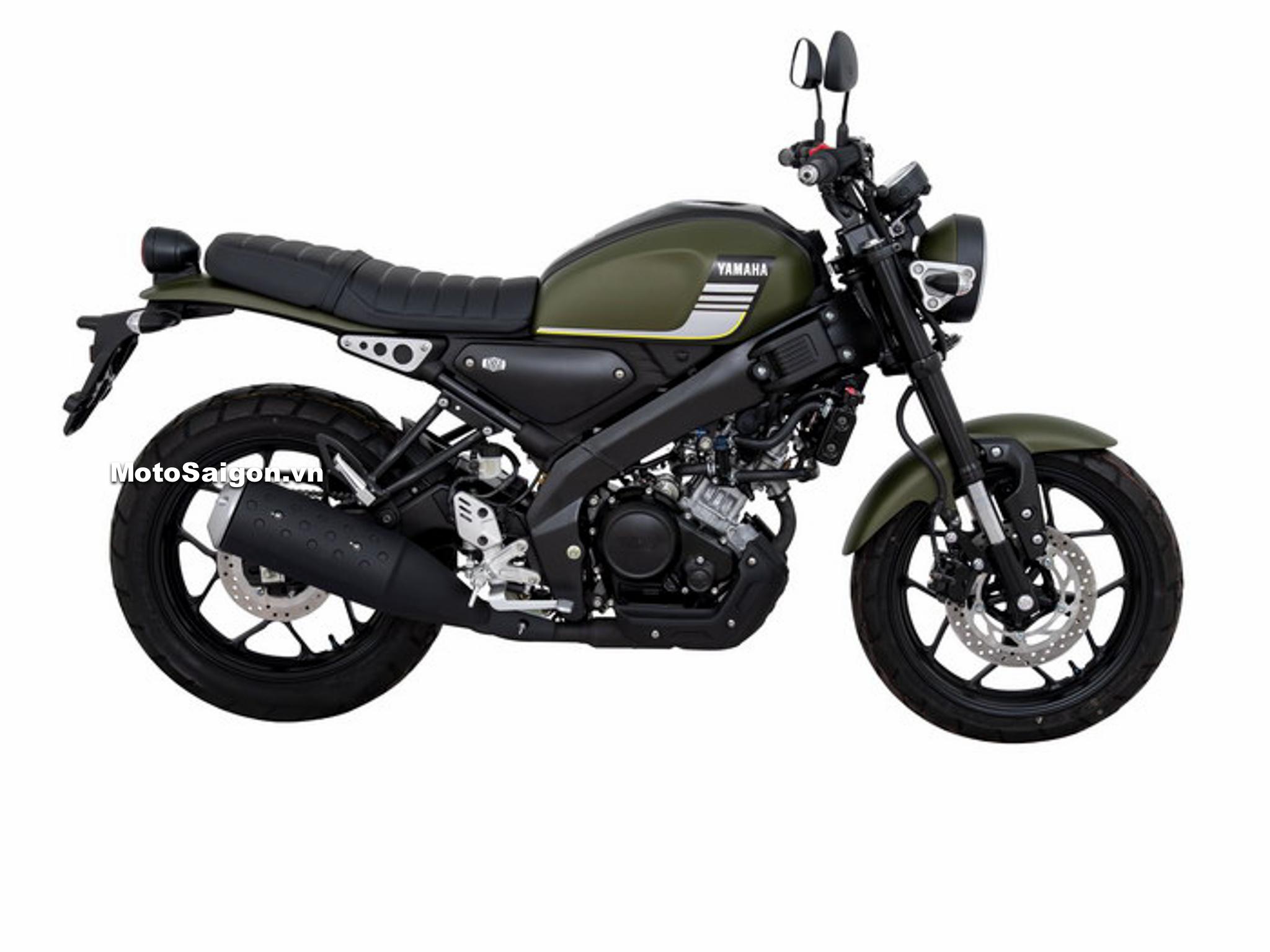 Yamaha XSR155 Elegance màu Xanh đen quân đội Green (Soldier)-Black