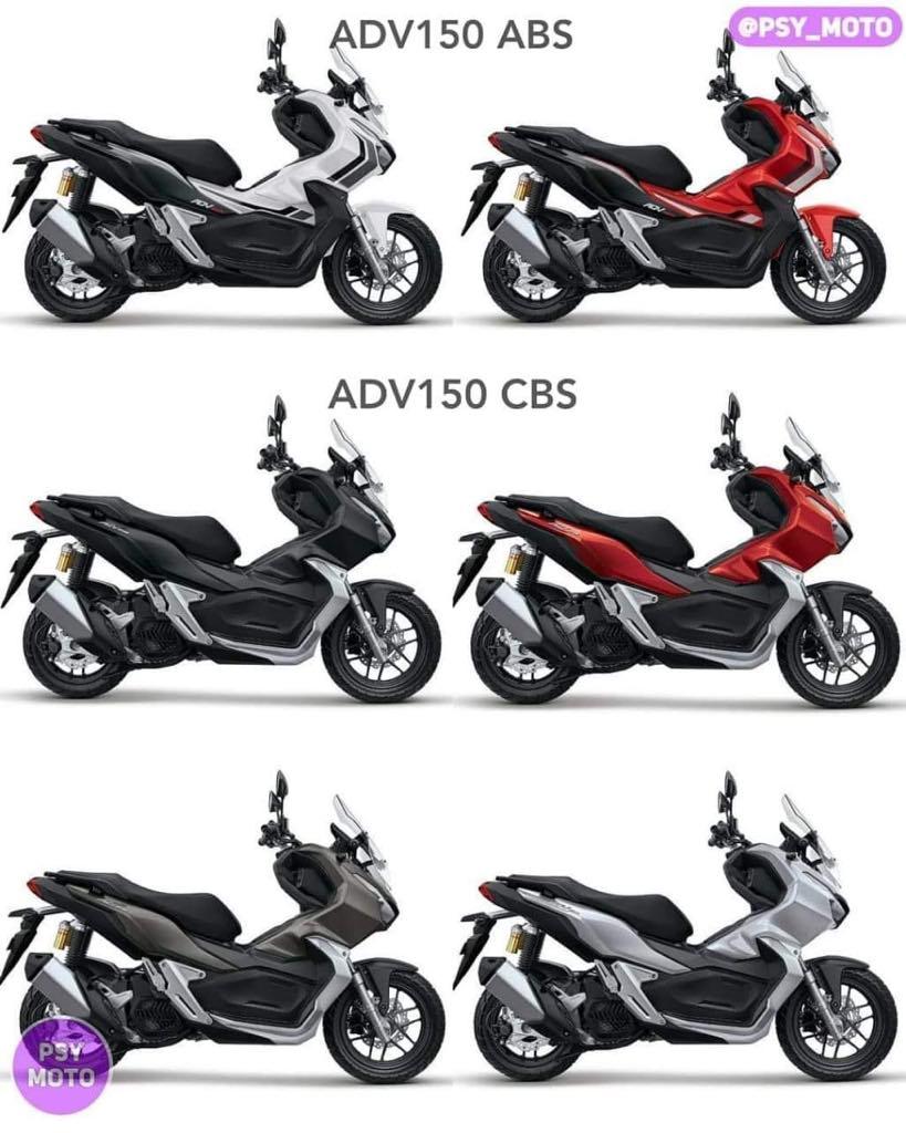 Honda ADV 150 ABS & CBS với 6 phiên bản màu sắc giá rẻ nhất thị trường