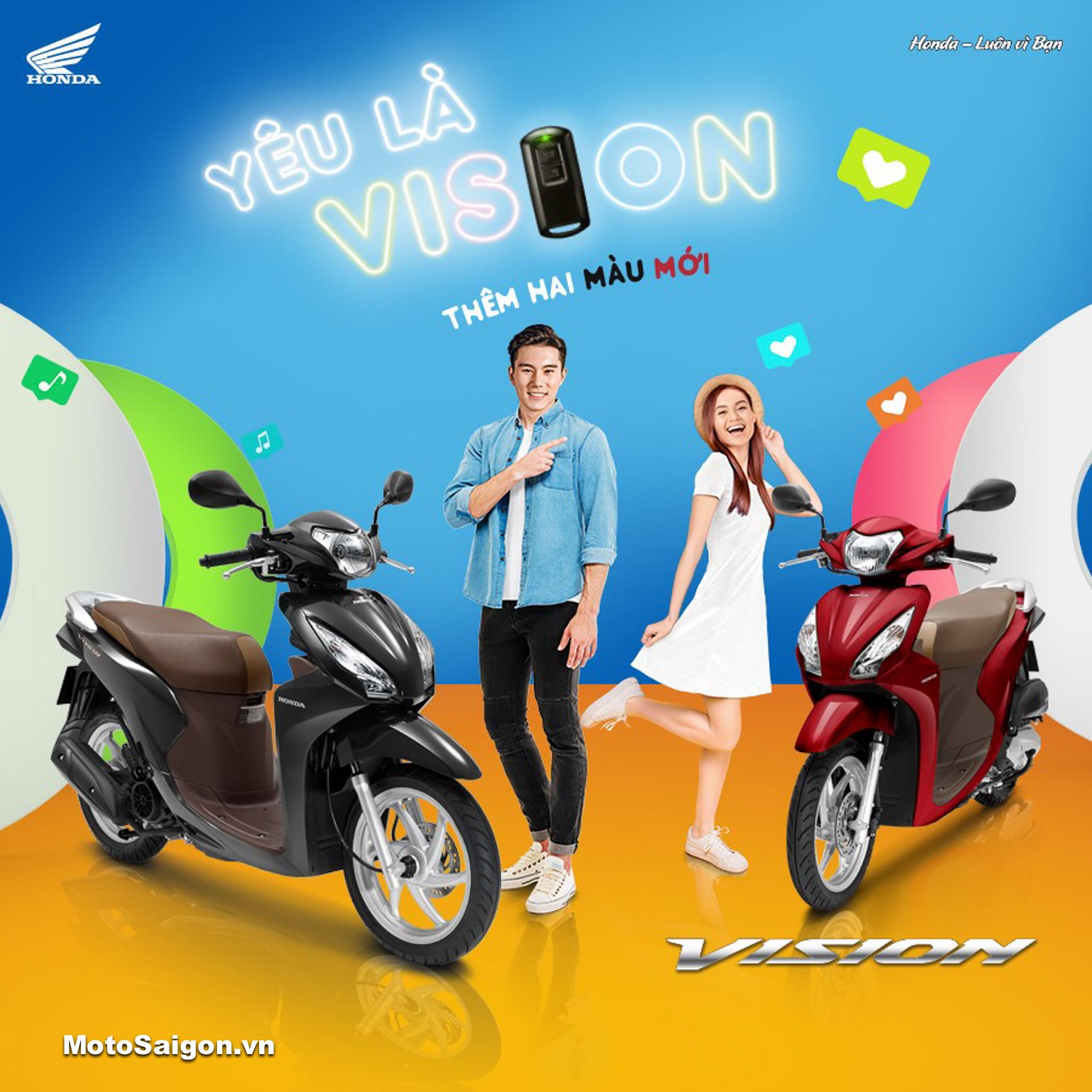 HONDA VISION 2019 phiên bản mới đã có giá bán