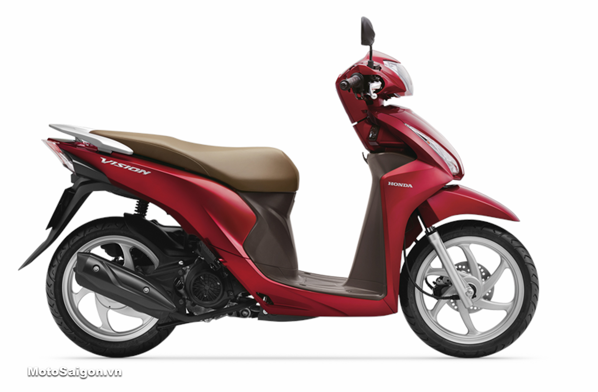 HONDA VISION 2019 phiên bản tiêu chuẩn màu Đỏ Nâu đã có giá bán