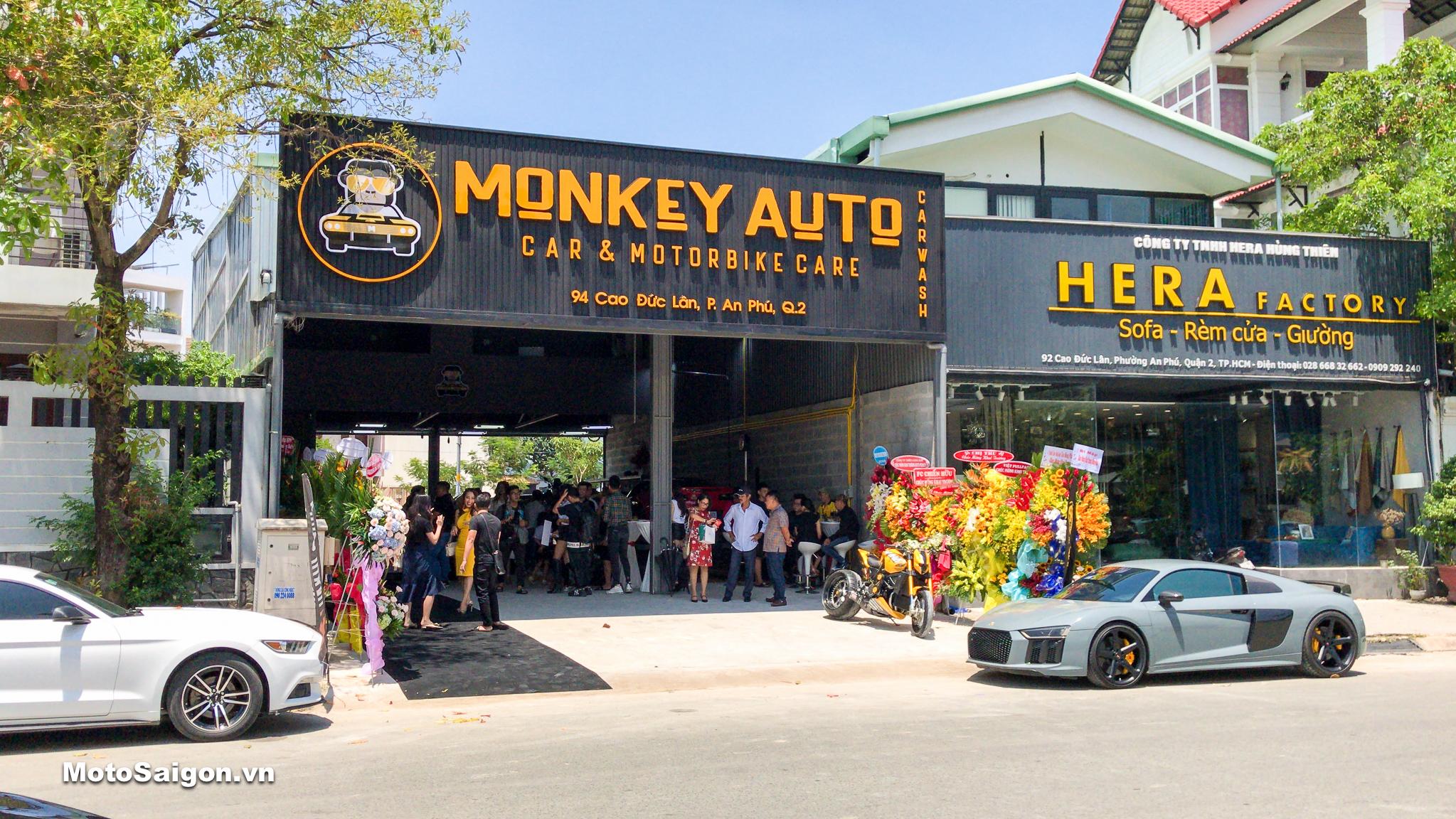 Diễn viên Ngọc Lan rạng rỡ dự khai trương MONKEY AUTO