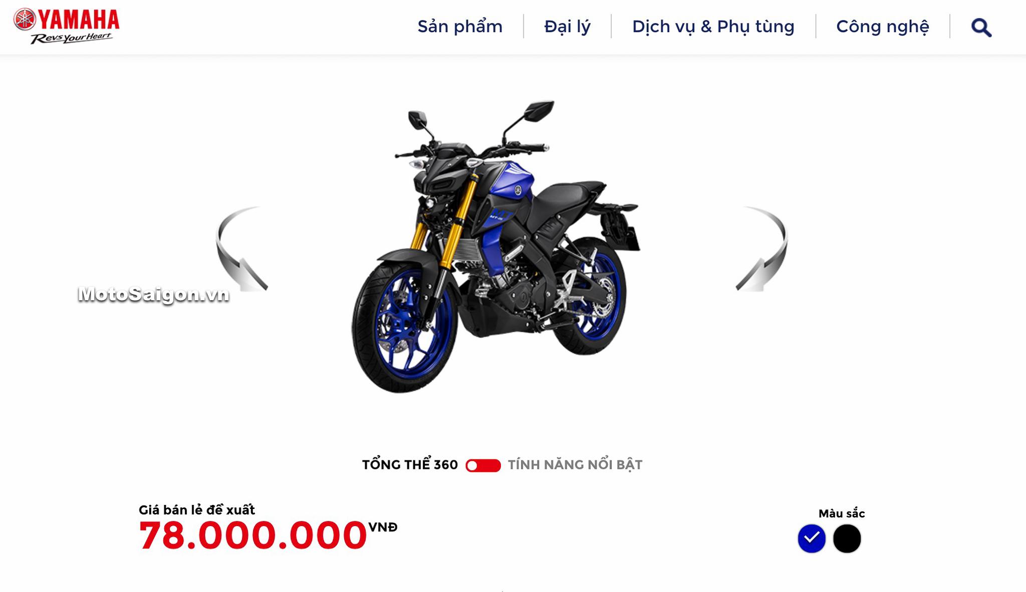 Giá bán Yamaha MT-15 2020 chính hãng tại Việt Nam