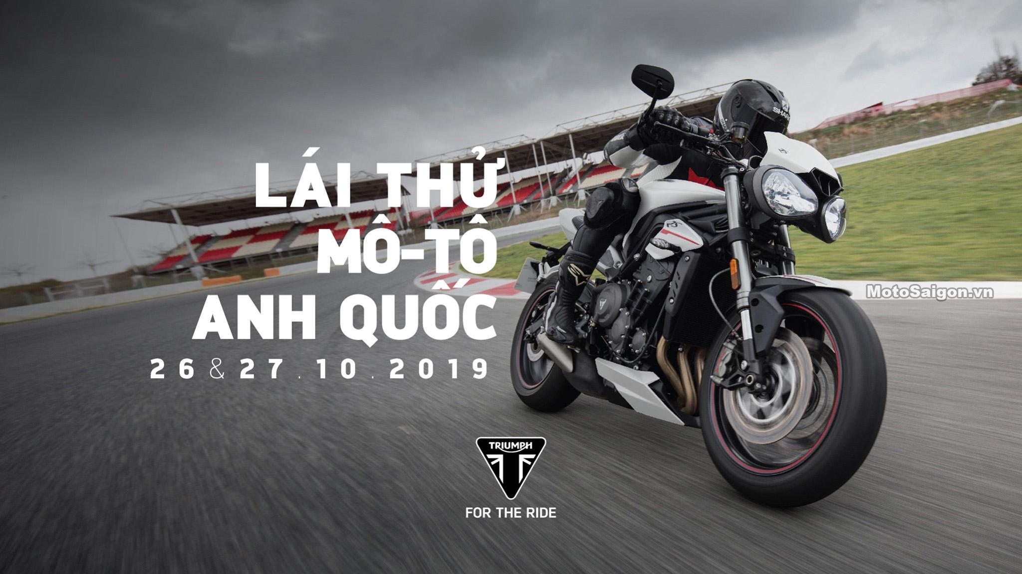 Chương trình lái thử xe mới 2019 do Triumph Việt Nam tổ chức