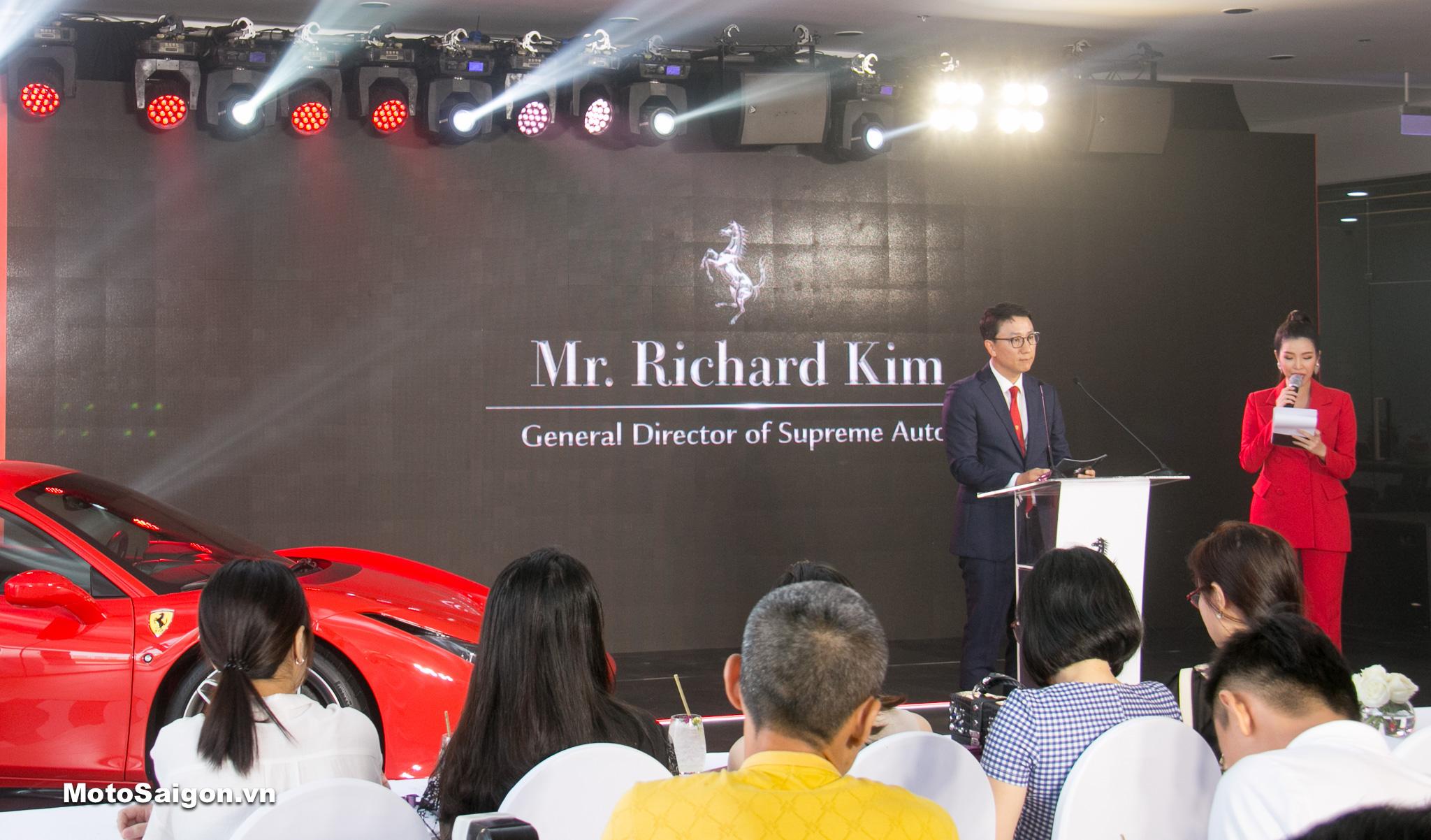 Ông Richard Kim, Tổng Giám đốc công ty Supreme Auto