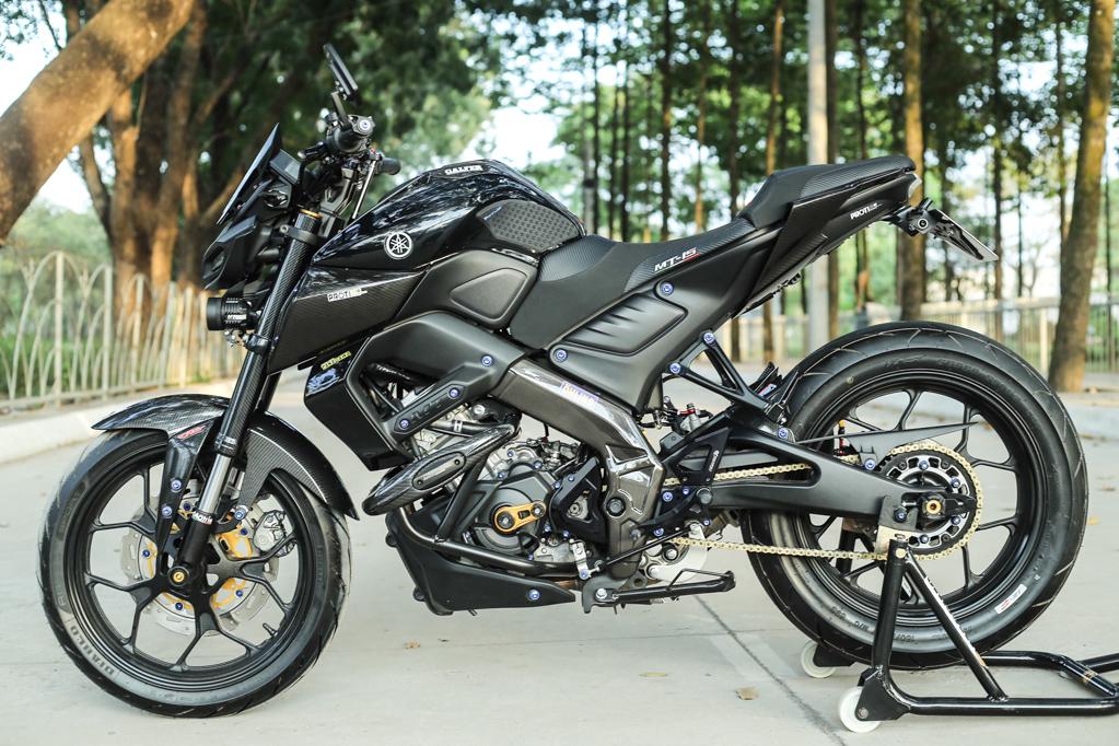 Báo đen Yamaha MT15 độ cực chất của Biker Đồng Nai