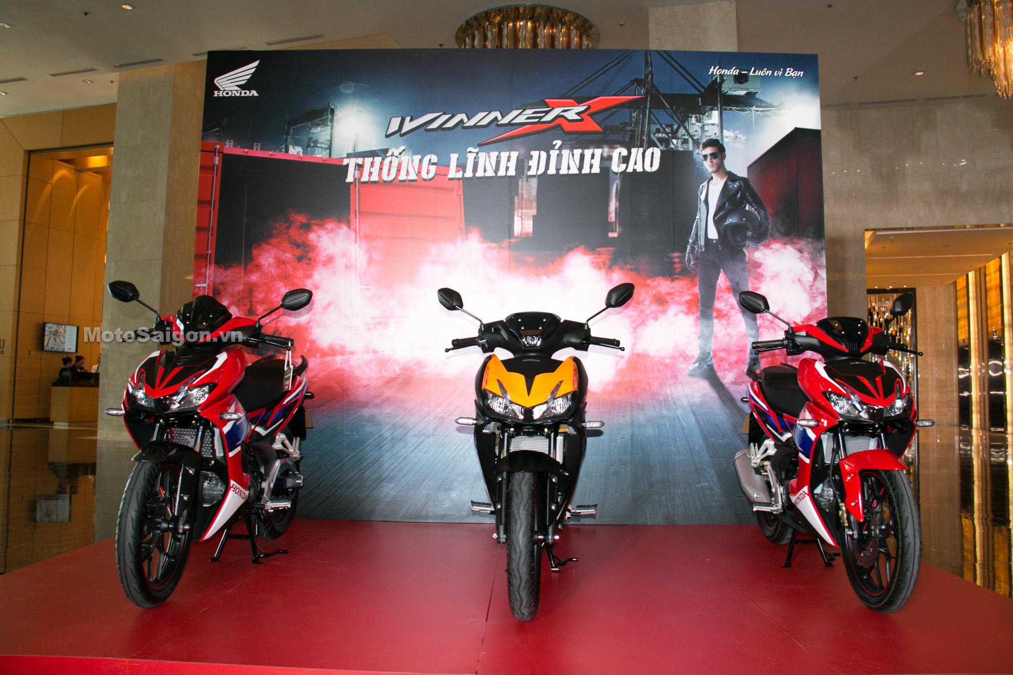 Honda Winner X 2020 màu mới Cam đen HRC kèm đồ chơi phụ kiện chính hãng