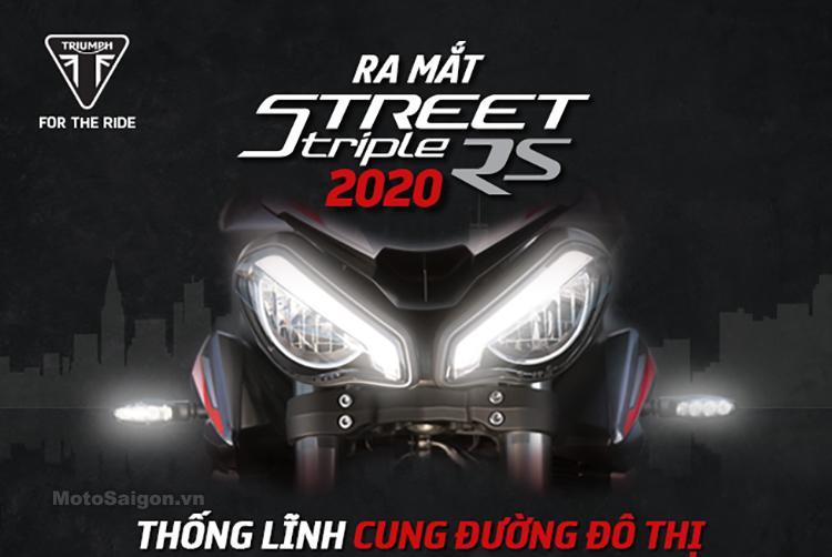 Triumph Street Triple RS 2020 sắp có giá bán chính hãng