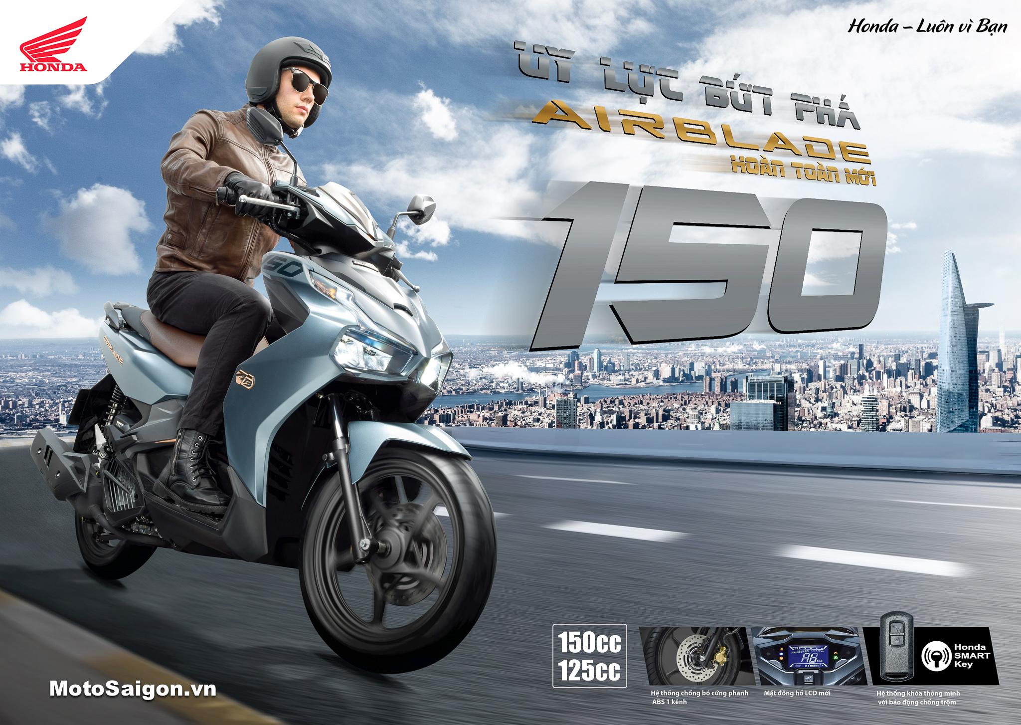 Honda Air Blade 150 ABS giá bao nhiêu? Đánh giá xe hình ảnh màu sắc