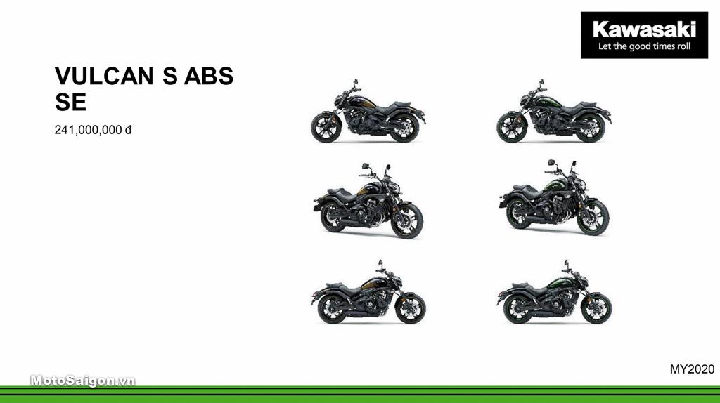 Giá xe Kawasaki Vulcan S ABS 2020 chính hãng mới nhất hôm nay